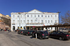Santa Apolonia-station Lissabon Stock Afbeeldingen