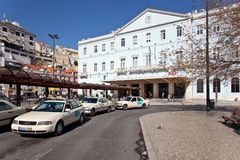 Santa Apolonia-station Lissabon Royalty-vrije Stock Foto's