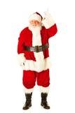Santa: Apontar para cima Imagens de Stock