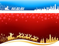 Santa approaching Christmas Backgrounds vector illustration