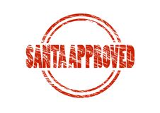 Santa approved red rubber stamp Royalty Free Stock Photography