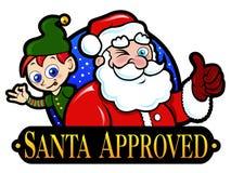 Santa aprovou o selo Fotografia de Stock
