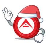 Santa Ark coin mascot cartoon. Vector illustration Royalty Free Stock Photography