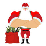 Santa Army avec des munitions Soldat Claus Guerre de Noël défendez Photos stock