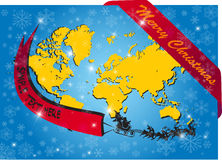 Santa around the world Royalty Free Stock Photo