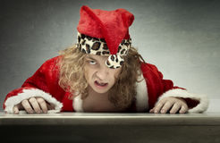 Santa arrabbiata Immagine Stock Libera da Diritti