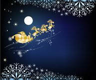 Santa arrives in a sleigh Royalty Free Stock Photography