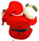 Santa Arriving. Shot of Santa arriving or leaving Stock Photos