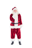 Santa asking for quiet to camera Royalty Free Stock Images