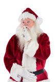 Santa asking for quiet to camera Royalty Free Stock Photo