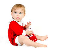 Santa aspettante Fotografia Stock