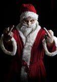 Santa assustador fotografia de stock royalty free
