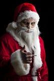 Santa asustadizo Imagenes de archivo