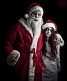 Santa asustadizo Imagen de archivo libre de regalías