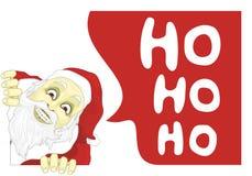 Santa asustadizo Fotografía de archivo libre de regalías
