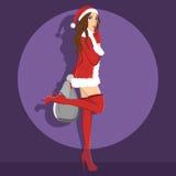 Santa atractivo 1 Foto de archivo libre de regalías
