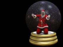 Santa atrapó en el globo 2 de la nieve stock de ilustración