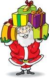 Santa avec des cadeaux Photographie stock libre de droits