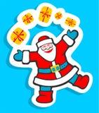 Santa avec des cadeaux Photos libres de droits