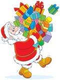 Santa avec des cadeaux Image libre de droits