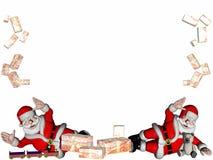 Santa avec des cadeaux. illustration de vecteur