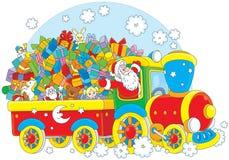Santa avec des cadeaux de Noël Images libres de droits