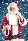 Santa avec la Tablette Photos stock