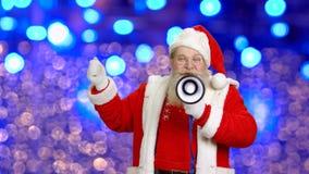 Santa avec le haut-parleur banque de vidéos