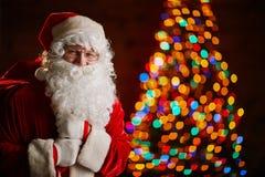 Santa avec le sac Photos libres de droits