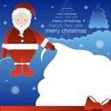 Santa avec le sac de cadeau Illustration de Vecteur