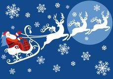 Santa avec son traîneau Images libres de droits