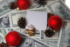 Santa avec un cône Image libre de droits