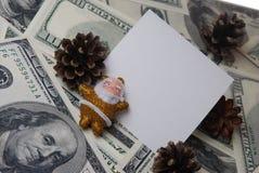 Santa avec un cône Photographie stock