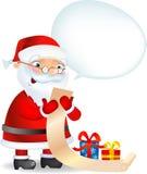 Santa avec un Lis Illustration de Vecteur