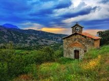 Santa Bàrbara. Catalonia. A little hermitage Stock Images