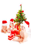 Santa babies Royalty Free Stock Photo