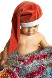Santa baby. Isolated over white Stock Photos