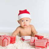 Santa baby boy Royalty Free Stock Photo