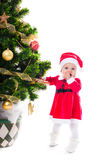 Santa baby girl Royalty Free Stock Photos