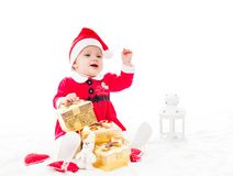 Santa baby girl Royalty Free Stock Image