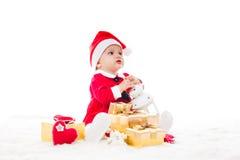 Santa baby girl Royalty Free Stock Photo