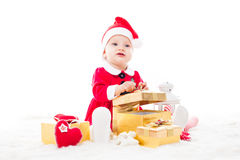Santa baby girl Royalty Free Stock Images