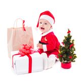 Santa baby girl Royalty Free Stock Photography