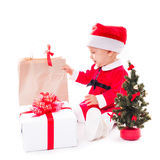 Santa baby girl Royalty Free Stock Image