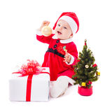 Santa baby girl Royalty Free Stock Photo