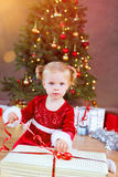 Santa baby royalty free stock photo