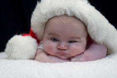 Santa Baby Peeking Stock Photos