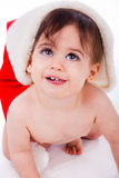 Santa baby smile Royalty Free Stock Image