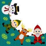 Santa background Stock Image