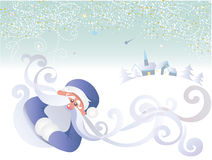Santa background Stock Photo